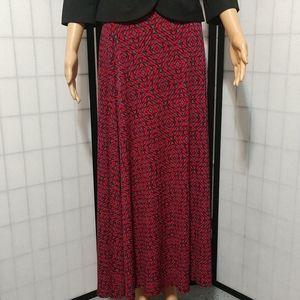 New LulaRoe Abstract Print Maxi Skirt Sz S
